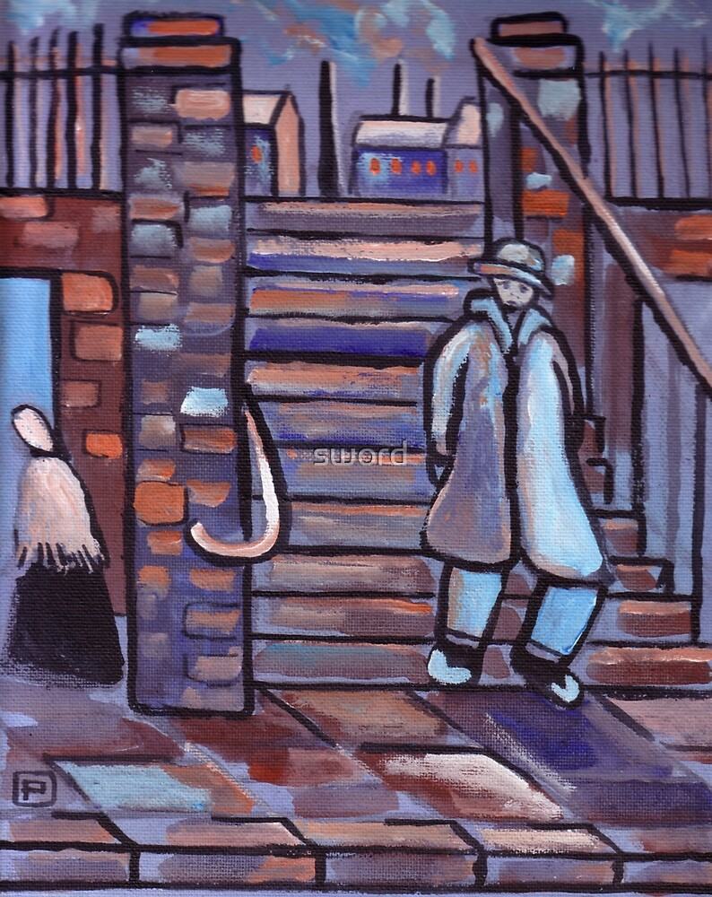 The steps (from my original acrylic painting) by sword