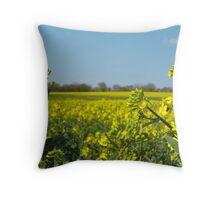 Yellow field (close) Throw Pillow