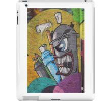 Angry cartoon street art guy, Cork iPad Case/Skin