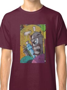 Angry cartoon street art guy, Cork Classic T-Shirt