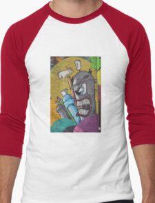 Angry cartoon street art guy, Cork Men's Baseball ¾ T-Shirt