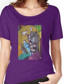 Angry cartoon street art guy, Cork Women's Relaxed Fit T-Shirt