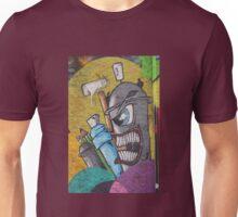Angry cartoon street art guy, Cork Unisex T-Shirt