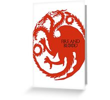 fire and blood - targaryen Greeting Card