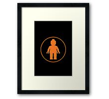 MINIFIG ORANGE Framed Print