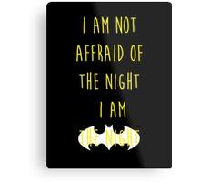 Batman affraid night dark Metal Print