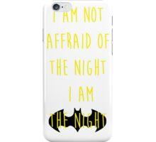 Batman affraid night light iPhone Case/Skin