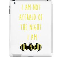Batman affraid night light iPad Case/Skin