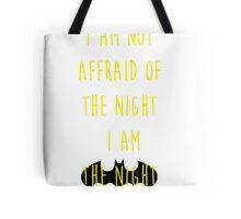 Batman affraid night light Tote Bag