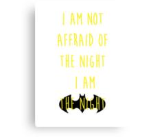 Batman affraid night light Canvas Print
