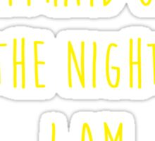 Batman affraid night light Sticker