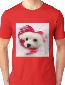 Snowdrop the Maltese - Forever in my Heart Unisex T-Shirt