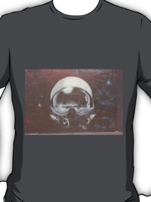 Ethereal space helmet street art Cork T-Shirt