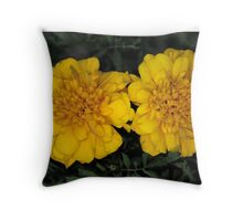 Zinnia violacea Throw Pillow