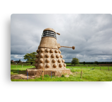 Dalek made from Straw Canvas Print