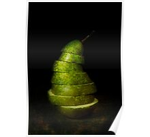 Sliced Pear Poster