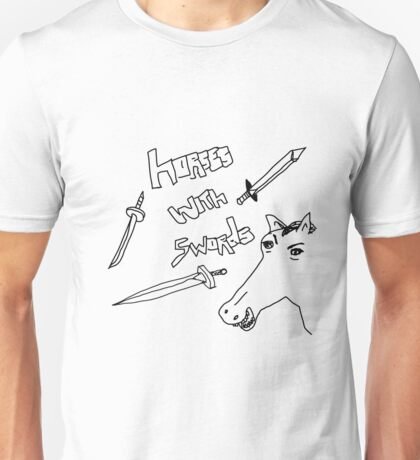 Horses with Swords Unisex T-Shirt