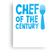 CHEF of the CENTURY! with kitchen fork Metal Print