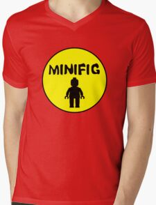 MINIFIG Mens V-Neck T-Shirt