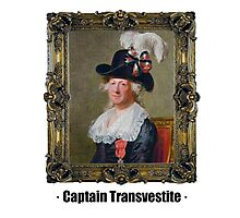 Captain Transvestite Photographic Print