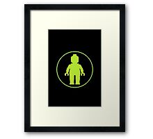 MINIFIG GREEN Framed Print