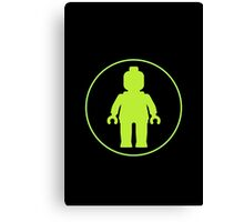 MINIFIG GREEN Canvas Print