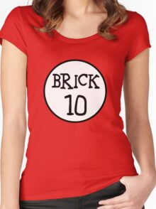 BRICK 10  Women's Fitted Scoop T-Shirt