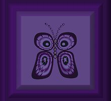 Purple Butterfly by MidnightAkita