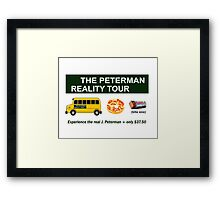 The Real Peterman Reality Bus Tour Shirt Seinfeld Framed Print