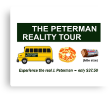 The Real Peterman Reality Bus Tour Shirt Seinfeld Canvas Print