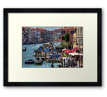 The Busy Grand Canal Framed Print