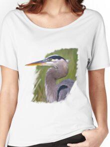 Kingly Blue Heron T-Shirt Women's Relaxed Fit T-Shirt