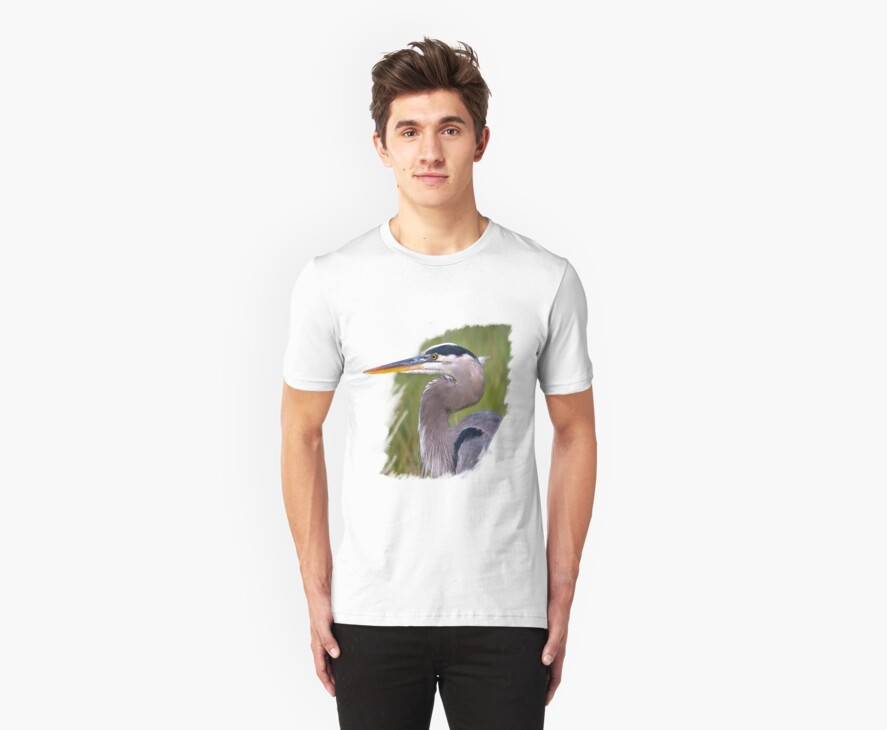 Kingly Blue Heron T-Shirt by Delores Knowles