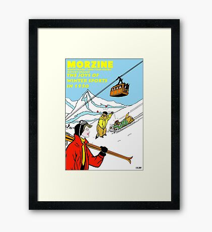 FRAMED PRINT of my postcard about Morzine Framed Print