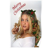 Christmas Curls Poster