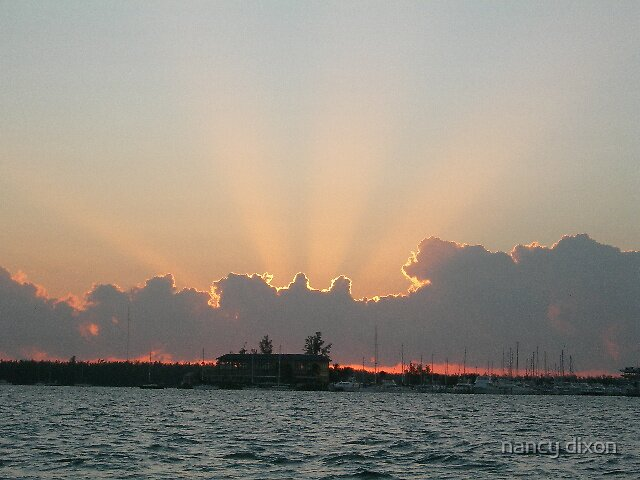 sunrise on Biscayne Bay by nancy dixon
