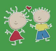 Tiny Tabi Falls in Love Kids Tee