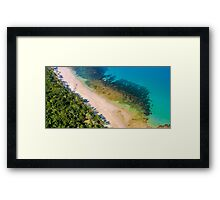 Afternoon light Coconut beach Framed Print