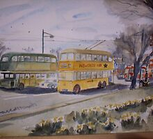 Newcastle upon Tyne Trolley bus by David  Marsh