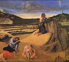 'Christ at the Mount of Olives' by Giovanni Bellini by Legacy1Gallery