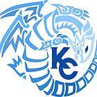 Blue Eyes White Dragon - Gradient Blue by vaguelygenius