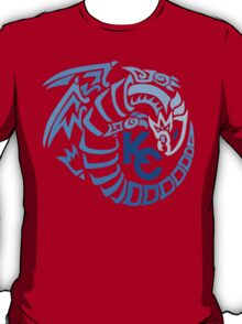 Blue Eyes White Dragon - Gradient Blue T-Shirt