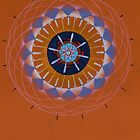 orange eye mandala by resonanteye