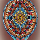 mandala, mandorla in warm tones by resonanteye