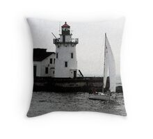 Into the Harbor Throw Pillow