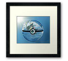 Rayquaza Pokeball Framed Print