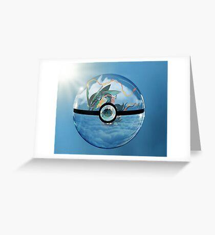 Rayquaza Pokeball Greeting Card