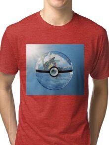 Rayquaza Pokeball Tri-blend T-Shirt