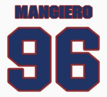 National football player Dino Mangiero jersey 96 by imsport