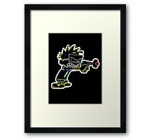 Spaceman Spiff Neon Framed Print